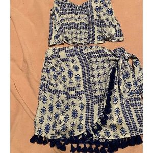 Two-piece skirt and top